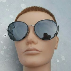 Authentic Chanel mirror round sunglasses